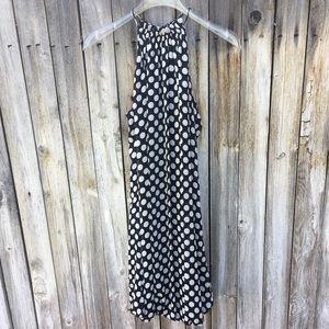 Zara Choker Bubble Dress Polka Dot Black/White S